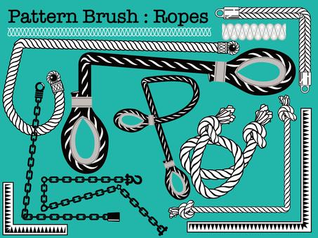 Rope pattern brush