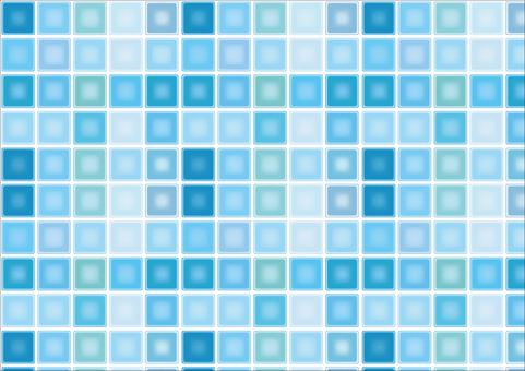 Summer color blue retro mosaic tile seamless
