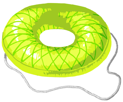 Floating ring yellow green