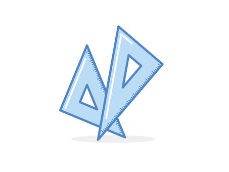 Triangle ruler C
