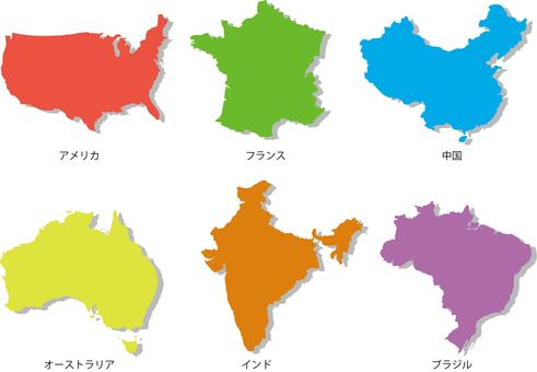 Map of each country