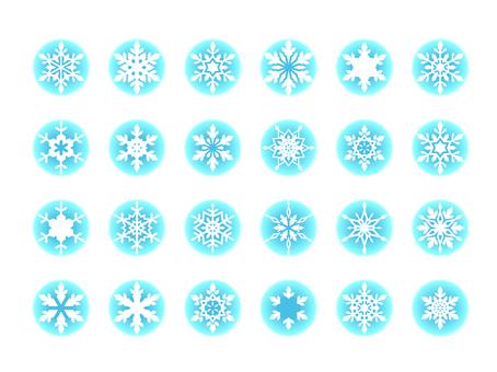 Snow flake illustration material