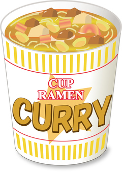 Cup noodle curry _ No lid