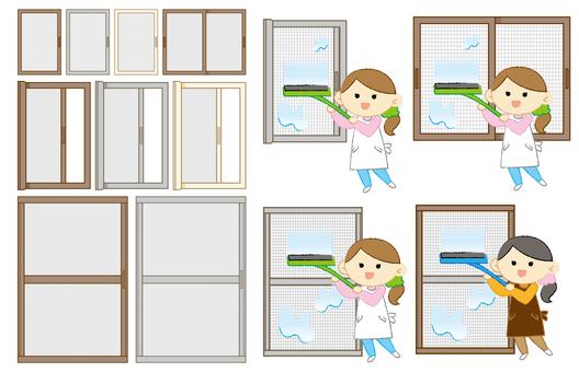 套清潔屏幕門和屏幕門