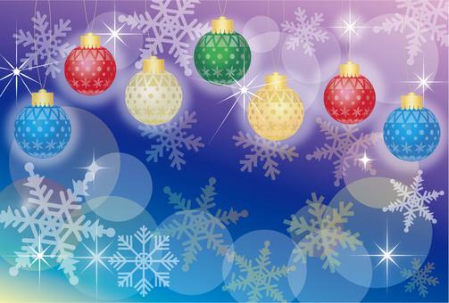 Decoration ball Christmas card
