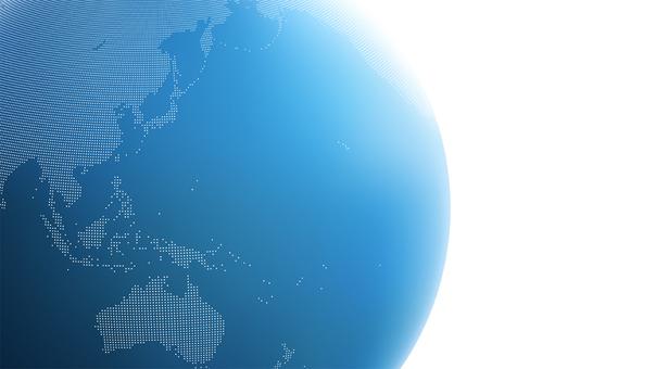 Earth dot map Asia 2 blu