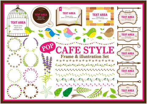 Pop Cafe style material