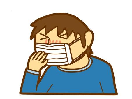 A boy sneezing (1)