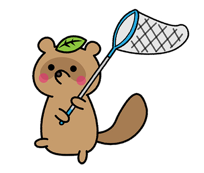 Insect removal Tanuki summer Insect removal net Summer vacation