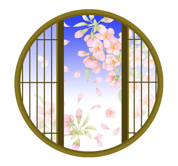 Cherry blossoms from the window Vr.002 ★ 0038-M