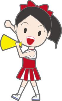 Cheerlead with megaphone