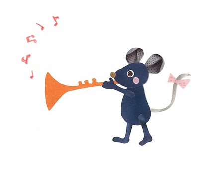 Animals and Musical Instruments Series - Mouse and Trumpet ~