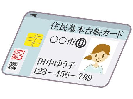 Basic resident register card diagonal
