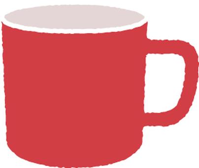Mug cup red