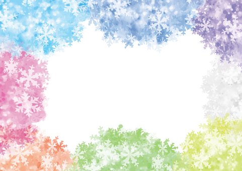 Colorful Snow Frame