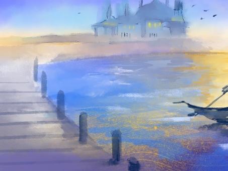 ヴェニス 風景 水彩画