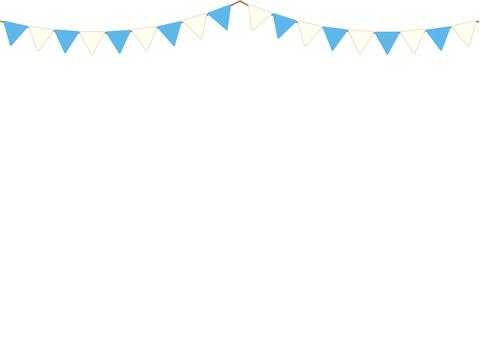 Garland Frame (light blue × white)