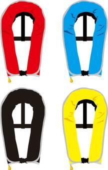 Life jacket (inflatable type)