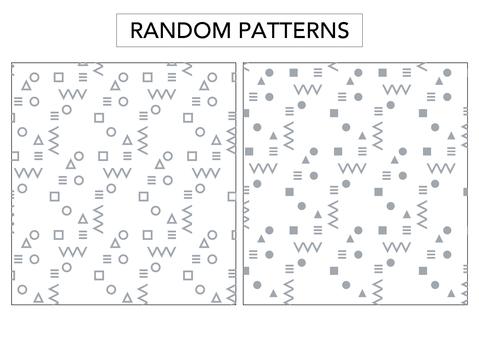 (Background transparent) random pattern