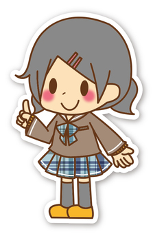 【Seal】 Girls * Junior High School students * Pointing