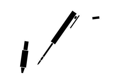 분해 한 볼펜