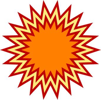 Explosive type balloon