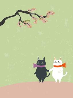 A cat holding hands and an outsider 2