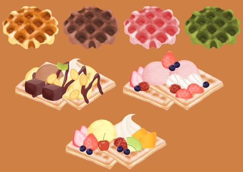 Waffle illustration set_51