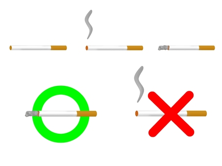 Tobacco icon set (without outline)