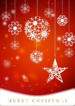 Christmas _ Red _ Vertical background 2190
