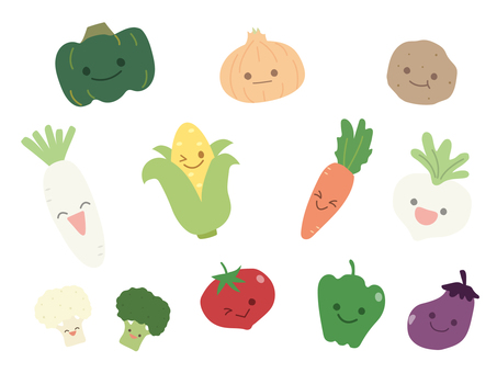 Hand-painted vegetables 1
