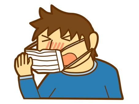 A boy sneezing (2)