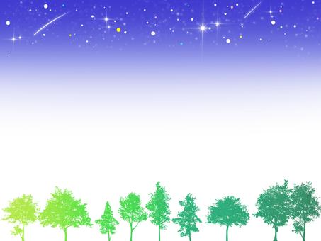 Sky and Tree Frame (Night) 1