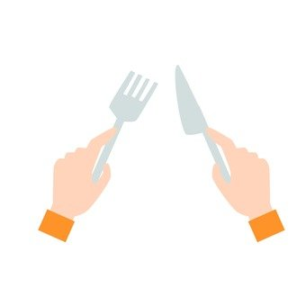 Hands - hand with knife and fork