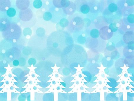 白色樹藍色背景