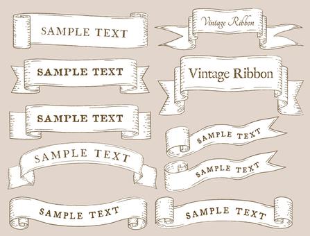 Vintage ribbon material