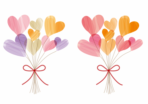 2 kinds of flowers of hearts