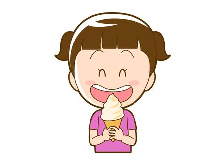 Summer _ girl eating ice _ 004