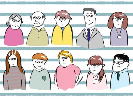 People illustration set