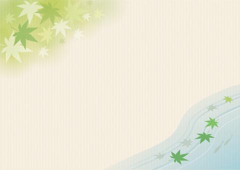 단풍 프레임 녹색 3