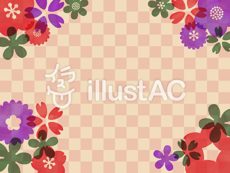 花柄の和風水彩壁紙イラスト No 991167無料イラストならイラストac