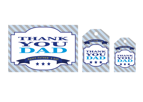 Thank You Dad Card & amp; tag