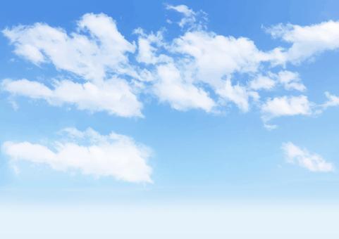 푸른 하늘과 구름 배경 소재 - 벡터 데이터