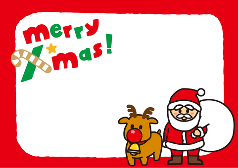 Christmas frame Santa Claus