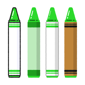 Hand-drawn wind crayon green