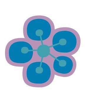 Plum blossoms (blue)