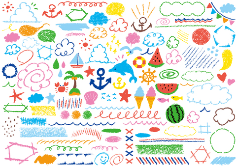 Crayon's hand-painted <summer> energetic color