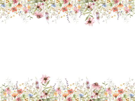 Flower frame 407 - Flower frame full of flowers in spring field