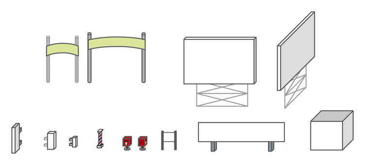 City series signboard and others
