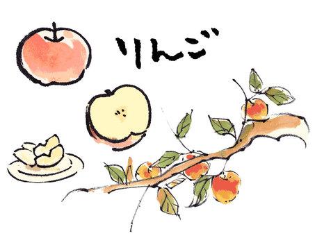 "Various apple ""hand-drawn material"""